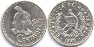 25 сентаво гватемала