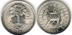 5 сентаво гватемала