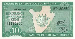 Burundi-10а франк