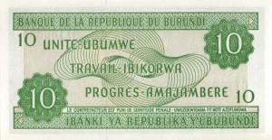 Burundi-10р франк