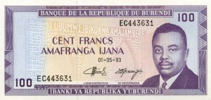 Burundi-100а франк