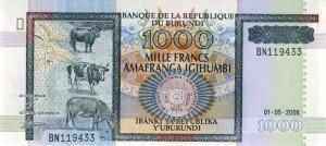 Burundi-1000а франк