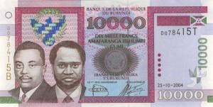 Burundi-10000а франк