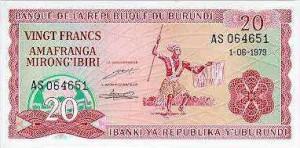 Burundi-20а франк