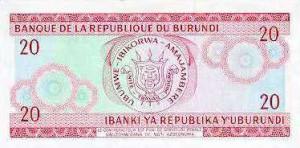 Burundi-20р франк