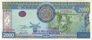 Burundi-2000а франк