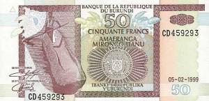 Burundi-50а франк