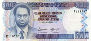 Burundi-500а франк