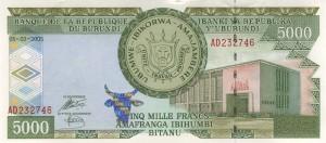 Burundi-5000а франк