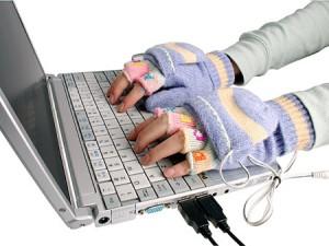 перчатки с подогревом для комфортной работы за компьютером