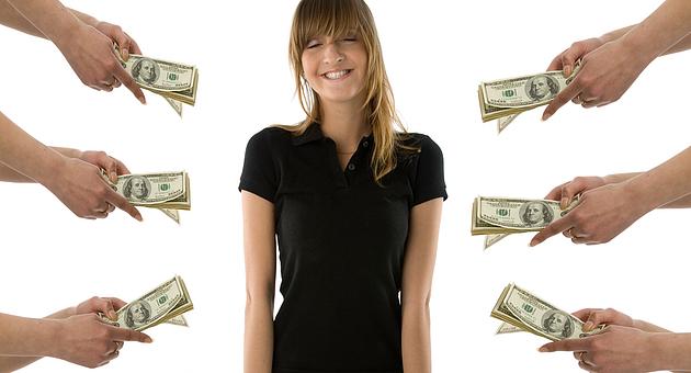 Биржи кредитов всегда рады дать вам денег под процент.