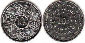burundi 10 франков