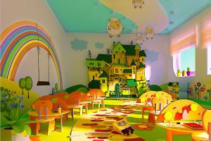 Игровая комната в магазине детских товаров.